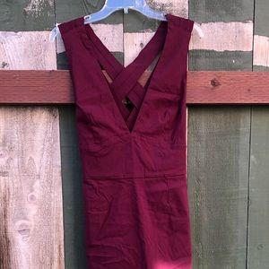 ASOS DEEP RED PENCIL DRESS